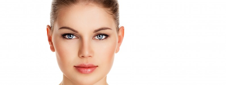 Beauty portrait of lovely woman with perfect healthy skin